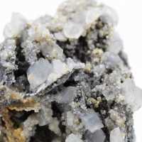 Block of cerusite galena and barite