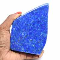 Natural polished lapis lazuli stone