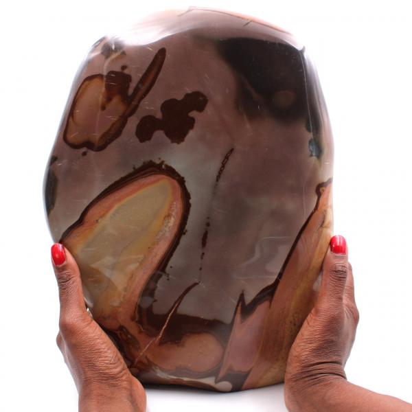 Grand bloc de jaspe imprimée 10 kilo, pierre d'ornement