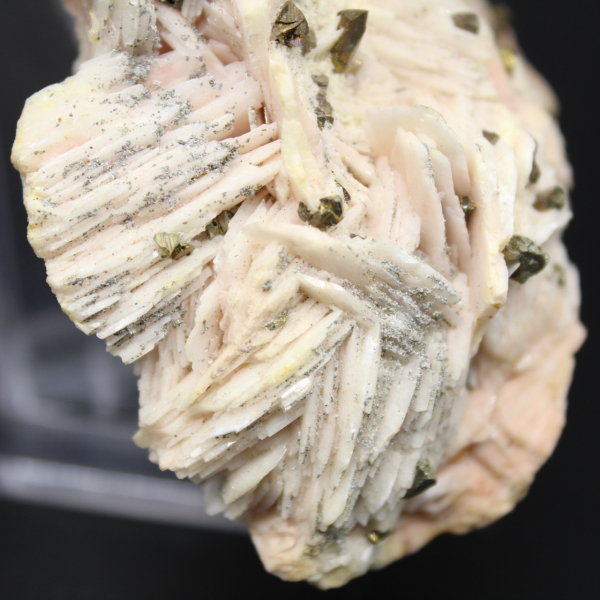 Pyrite crystals on barite