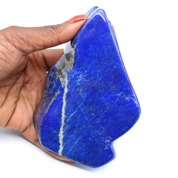 Lapis lazuli polished stone