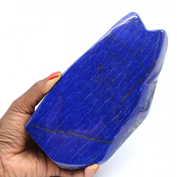 Grande pierre de Lapis-lazuli polie de collection