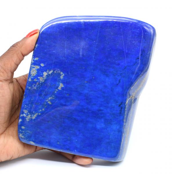 Grand bloc polie en Lapis-lazuli