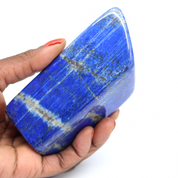 Lapis-lazuli pierre polie